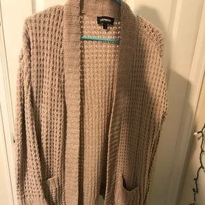 Beige Winter Cardigran